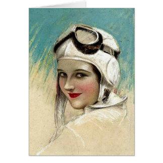 Zwanzigerjahre Flygirl durch C.G. Sheldon Karte