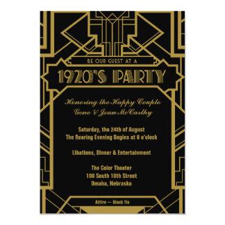 Zwanzigerjahre Gatsby laden ein 12,7 X 17,8 Cm Einladungskarte