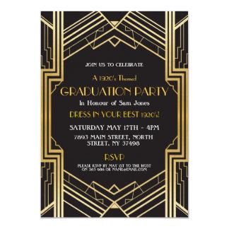 Zwanzigerjahre Kunst-Deko-Abschluss laden Gatsby Karte