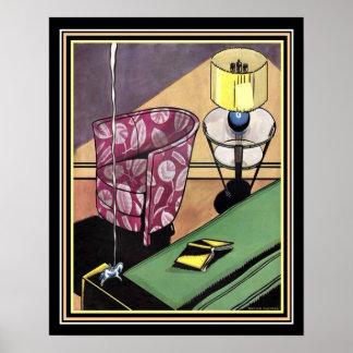 Zwanzigerjahre Kunst-Deko-Dekor-Druck 16 x 20 Poster