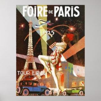 Zwanzigerjahre Paris-Kunst-Deko-Druck Poster