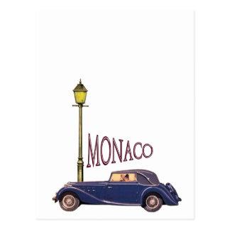 Zwanzigerjahre Vintages Automobil - Monaco Postkarte