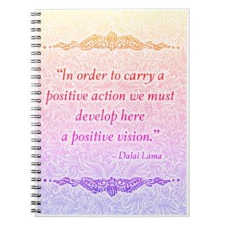 Zwecks ein Positiv tragen - positives Quote´s Spiral Notizblock