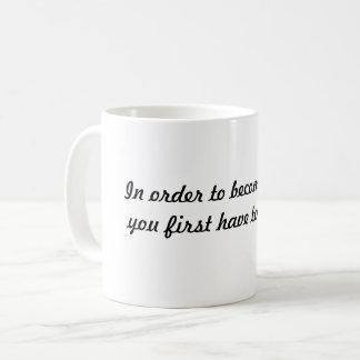 Zwecks starke Tasse werden