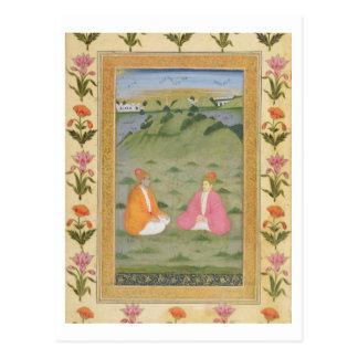 Zwei Adlige gesetzt in einer Landschaft, vom Postkarte