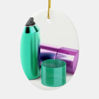 Zwei Aerosolspraydosen Keramik Ornament