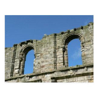 Zwei altes Windows von der Kathedrale von St Postkarte