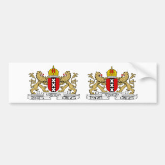 ZWEI Amsterdam Wappen Autoaufkleber