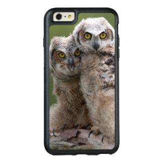 Zwei Baby-Virginia-Uhus OtterBox iPhone 6/6s Plus Hülle