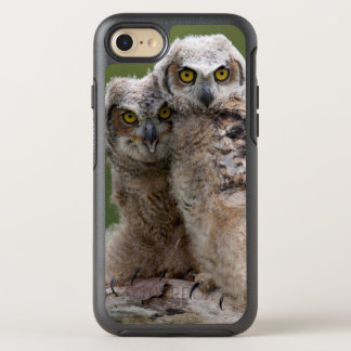 Zwei Baby-Virginia-Uhus OtterBox Symmetry iPhone 8/7 Hülle