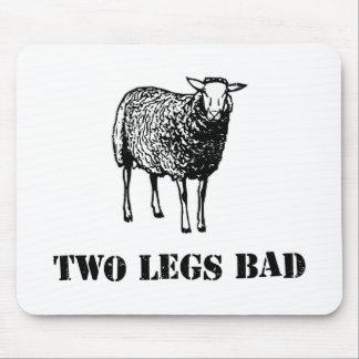 Zwei Bein-Schlecht-Schafe Mauspad