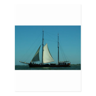 Zwei bemasteter segelnder Lastkahn Postkarte
