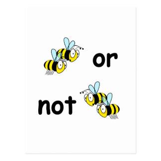 Zwei Bienen oder nicht zwei Bienen Postkarte