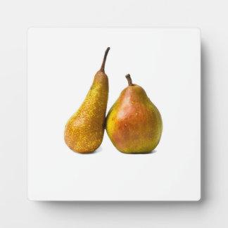 Zwei Birnen Fotoplatte