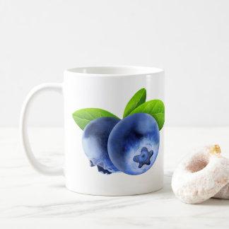 Zwei Blaubeeren Kaffeetasse