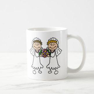 Zwei Bräute mit Blumen Kaffeetasse