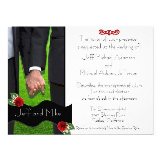 Zwei Bräutigam-kundenspezifische homosexuelle Einladung