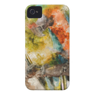 Zwei bunte Macaws iPhone 4 Case-Mate Hülle
