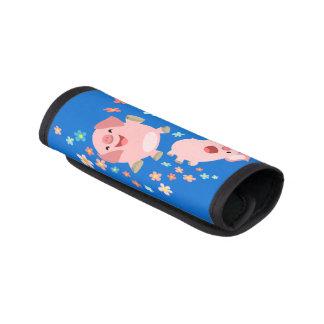 Zwei Cartoon-Schweine in der Gepäckgriff Marker