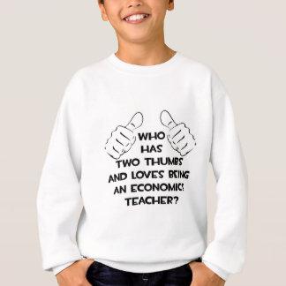 Zwei Daumen und Lieben, die ein Econ Lehrer sind Sweatshirt