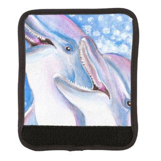 zwei Delphine Koffergriffwickel