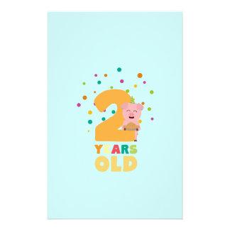 Zwei des zweiten Geburtstags-Jahre Party-Zkgcl Flyer
