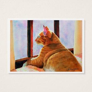 Zwei doppelseitiger ACEO Druck der orange Katzen- Visitenkarte
