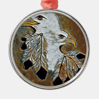 Zwei Eagles Silbernes Ornament