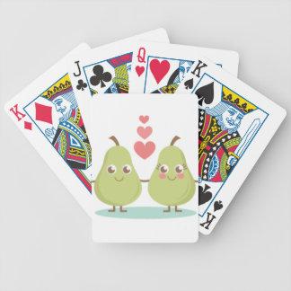 Zwei einer Birne Bicycle Spielkarten