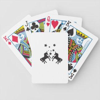 Zwei Einhörner Pokerkarten