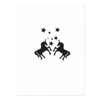 Zwei Einhörner Postkarte