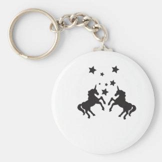 Zwei Einhörner Schlüsselanhänger