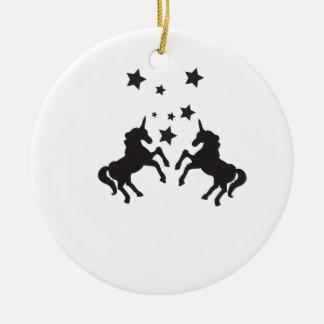 Zwei Einhörner Weihnachtsbaum Ornamente