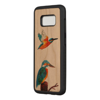 Zwei Eisvogel-Vogel-Kunst Carved Samsung Galaxy S8 Hülle