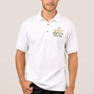 Zwei Engels-Alpaka-Bauernhof Polo Shirt
