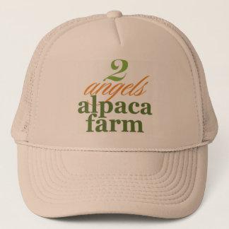 Zwei Engels-Alpaka-Bauernhof Truckerkappe