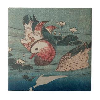 Zwei Enten durch Keisai Eisen Keramikfliese