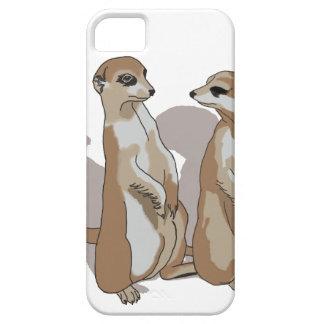 zwei Erdmännchen mit Schatten iPhone 5 Hülle