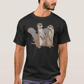zwei Erdmännchen mit Schatten T-Shirt