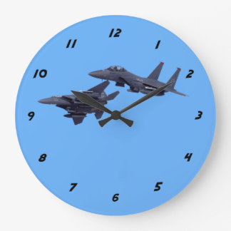 Zwei F-15E Streik Eagles Große Wanduhr