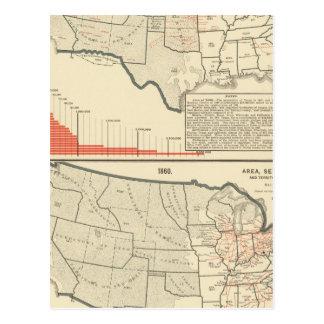 Zwei Farbe lithographierte Karten von Vereinigten