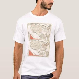 Zwei Farbe lithographierte Karten von Vereinigten T-Shirt