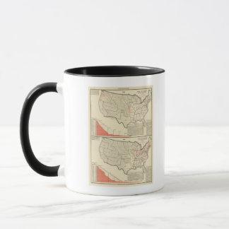 Zwei Farbe lithographierte Karten von Vereinigten Tasse