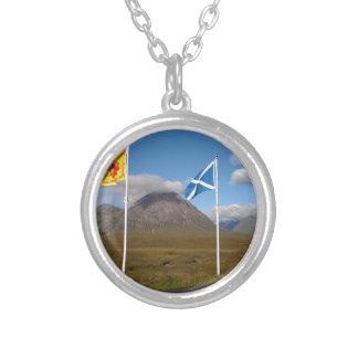 zwei Flaggen Schottland Versilberte Kette
