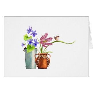 Zwei Flowerpots Karte