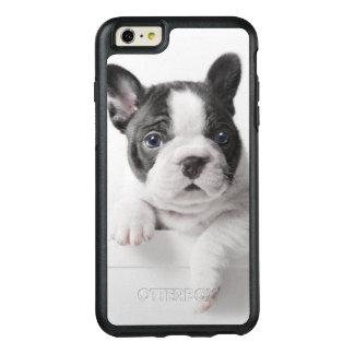 Zwei französische Bulldoggen-Welpen-Gleicher über OtterBox iPhone 6/6s Plus Hülle