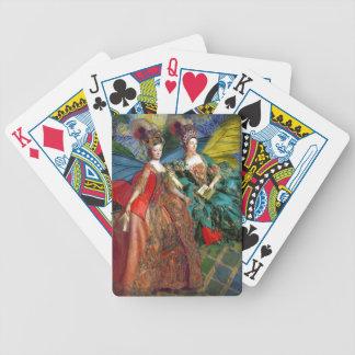 Zwei Frauen-Klassiker-Kunst Bicycle Spielkarten