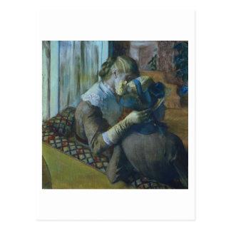 Zwei Frauen (Pastell) Postkarte