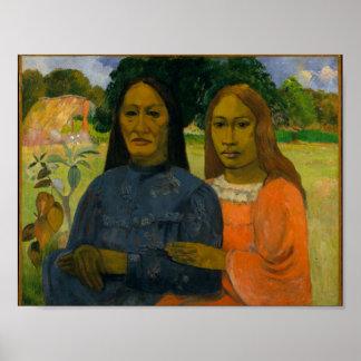Zwei Frauen, Paul Gauguin Poster