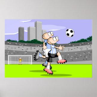 Zwei Fußballspieler Soccer Poster